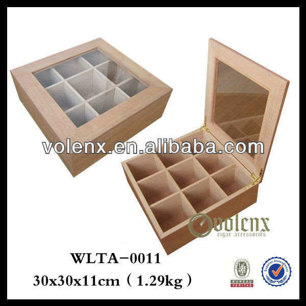 Glass Wooden Packaging Storage Tea Box/case