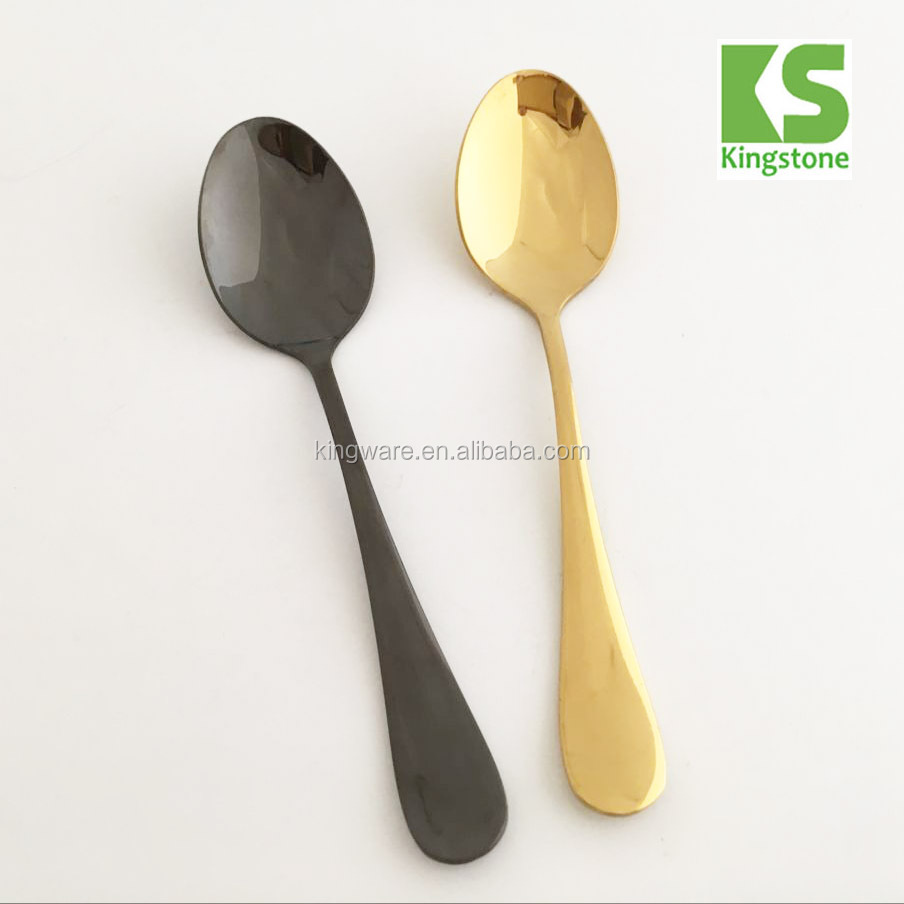Wholesale best selling promotion souvenirs cheap gold stainless steel coffee black tea spoon