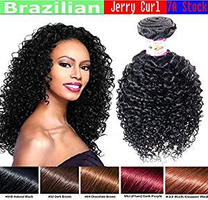 Get Quotations Jerry Curl Brazilian Bundle Hair Curly Virgin Weave Great Deal 100 Human Guaranteed