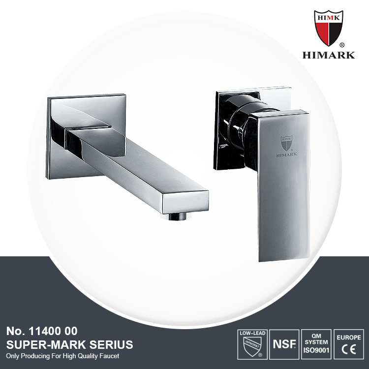 China suppliers polished chrome wall brass basin faucet