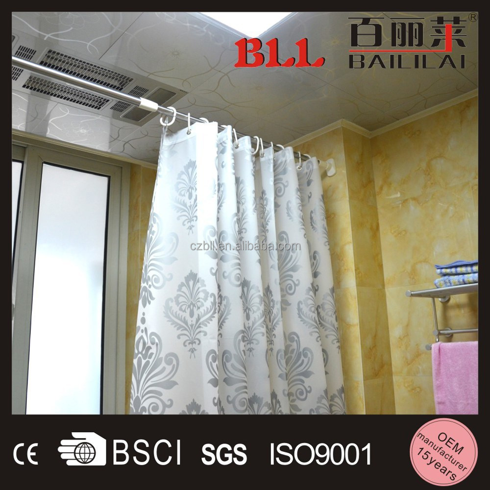 Great Telescopic Shower Curtain Rod Pictures Inspiration - Bathtub ...