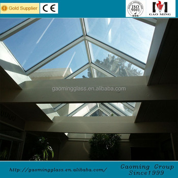 Tempered glass canopy laminated glass roof with steel for Glass roof design