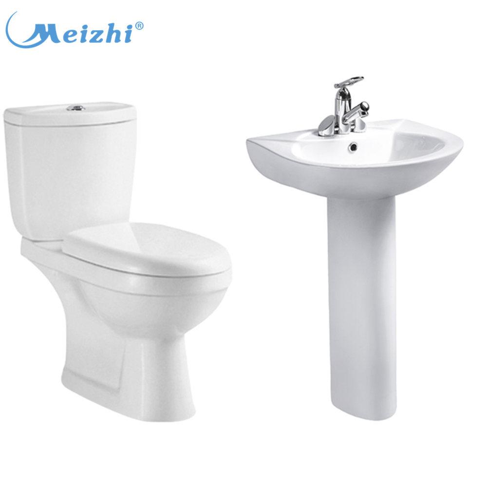 Gốm Hai Mảnh Phòng Tắm Wc Bồn Rửa