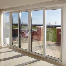 alta calidad moderna grande precio de doble puerta de aluminio de cristal puerta corredera puerta corredera