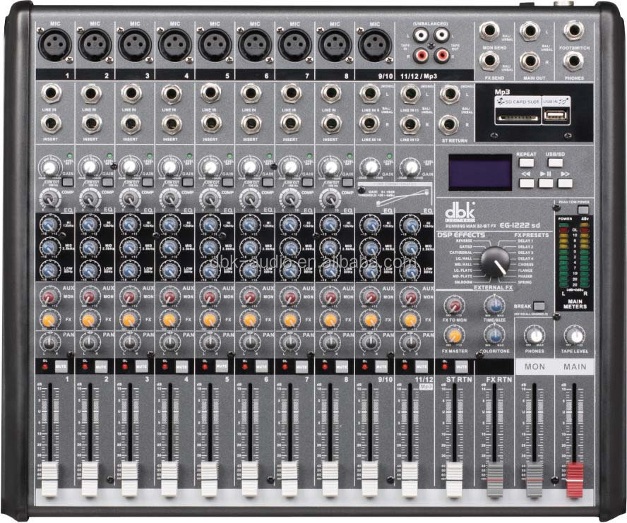 16 Channels Professional Audio Sound System Power Sound Mixer ...