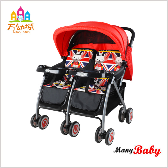 Adjustable and full canopy 330mm second hand baby stroller
