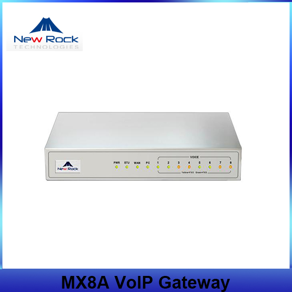 8 FXS/FXO ports New Rock MX8A VoIP Gateway