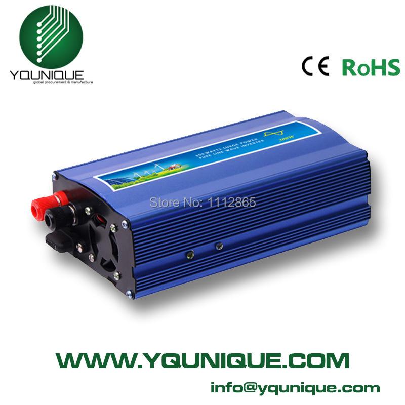 300W Pure Sine Wave Inverter 600W Peak, 12/24vdc to 120/230VAC Power Inverter