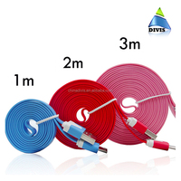 Wholesale micro usb cable usb flat ribbon cable noodle cellphone cable