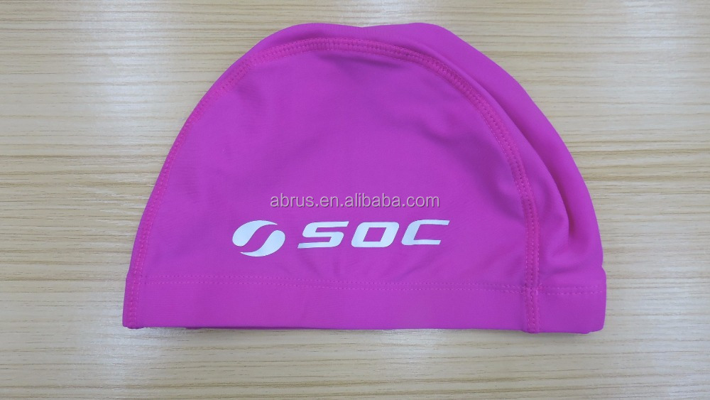 Lycra Swim Caps for Children Quick Dry One Size Fit All Multi Colors Logo Custom