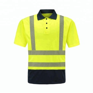 Hot Sale 100% Polyester Hi Viz Polo Shirt safety Reflective Polo T Shirt