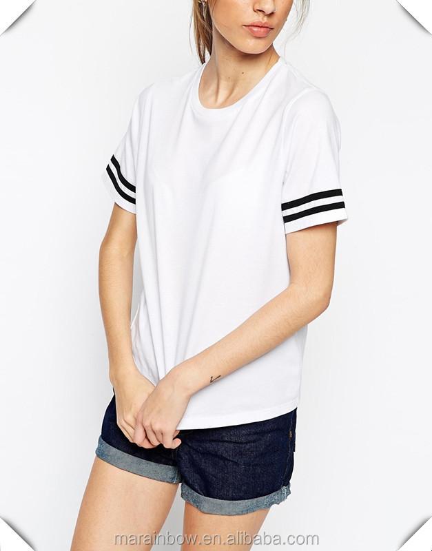 Teen Girl T Shirt 100 Cotton White Plain Short Sleeve T