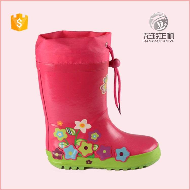 Modern design pink lightweight rain boots for girls