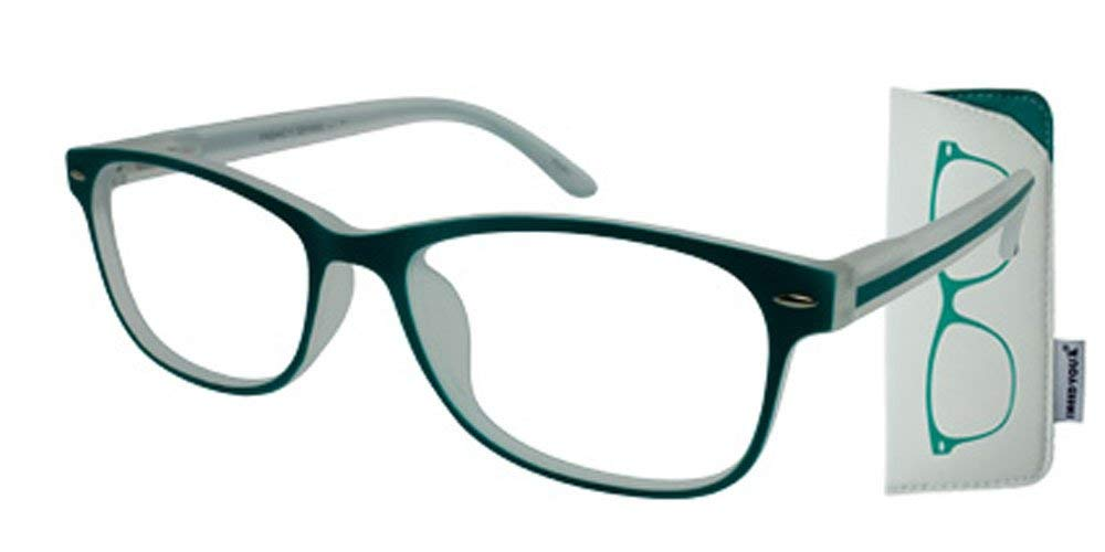 e4142a1a7a70 Get Quotations · I NEED YOU Fashion Reading Glasses Green For Men & Women -  Full Rim Eyewear Designer