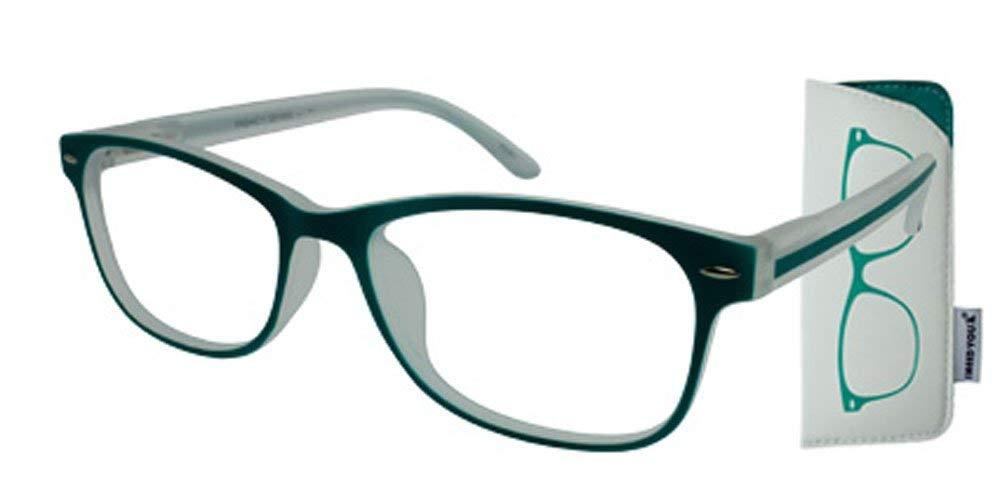 f0766845bab Get Quotations · I NEED YOU Fashion Reading Glasses Green For Men   Women -  Full Rim Eyewear Designer