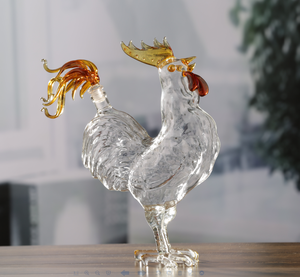 Hot sale Animal Shaped 500ml rooster glass bottle