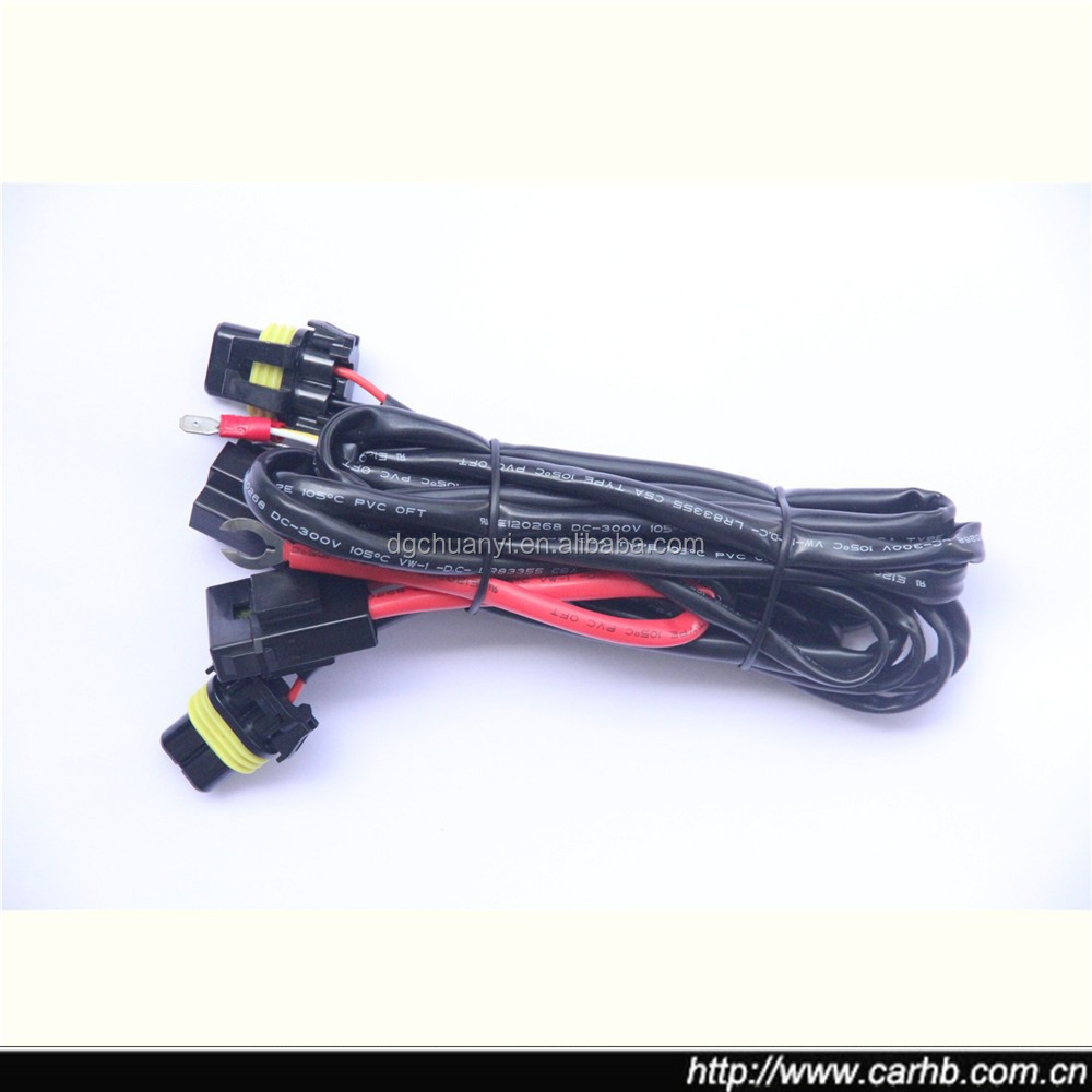 H3 H4 H7 H11 9005 9006 Hid Conversion Kit Relay Wire Harness Adapter H Wiring Harness Adapter on