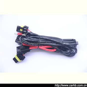 H3 H4 H7 H11 9005 9006 Hid Conversion Kit Relay Wire Harness Adapter  Bi Xenon Wiring Harness on