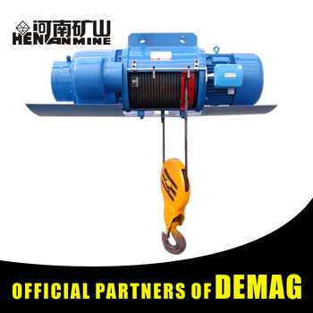 Electric Hoist Wire Rope Winding Lifting Drums From The Sliding Wire ...