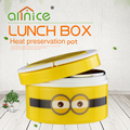 0.8L big eyes minions 100% stainless steel storage lunch box/plastic bento box for kids