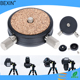 Camera accessories flexible Metal camera platforms tripod head mount 360 degree swivel rotating Panorama aluminium Ball Head