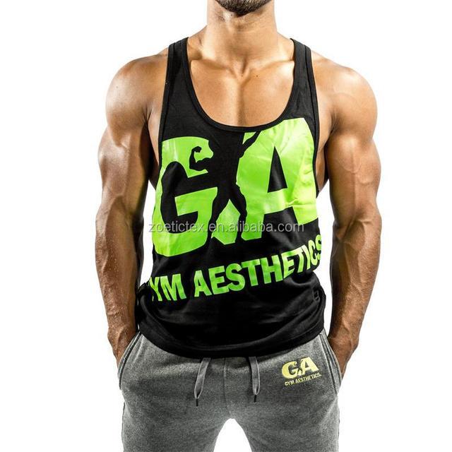 8b386220546b01 High quality custom oem logo mens gym stringer tank top