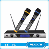 High Quality Classroom Headset Uhf Dual-Channel Wireless Microphone System
