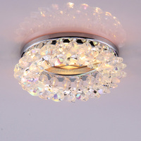 modern MR16 gu5.3 gu10 AB multi color crystal beads chrome iron base led spot light for indoor ceiling decoration