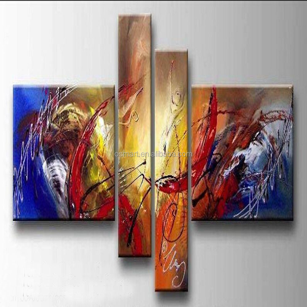 Professional Factory Provide High Quality Good Textured Modern Abstract Oil Painting For Wall Decoration Abstract Group Painting