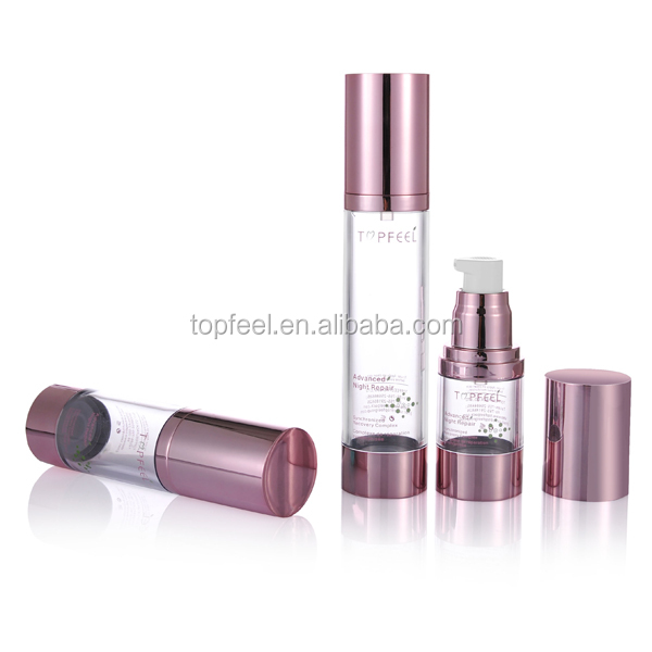 AS Classical plastic airless airless pump cosmetic bottle container for sale 15ml 30ml 50ml