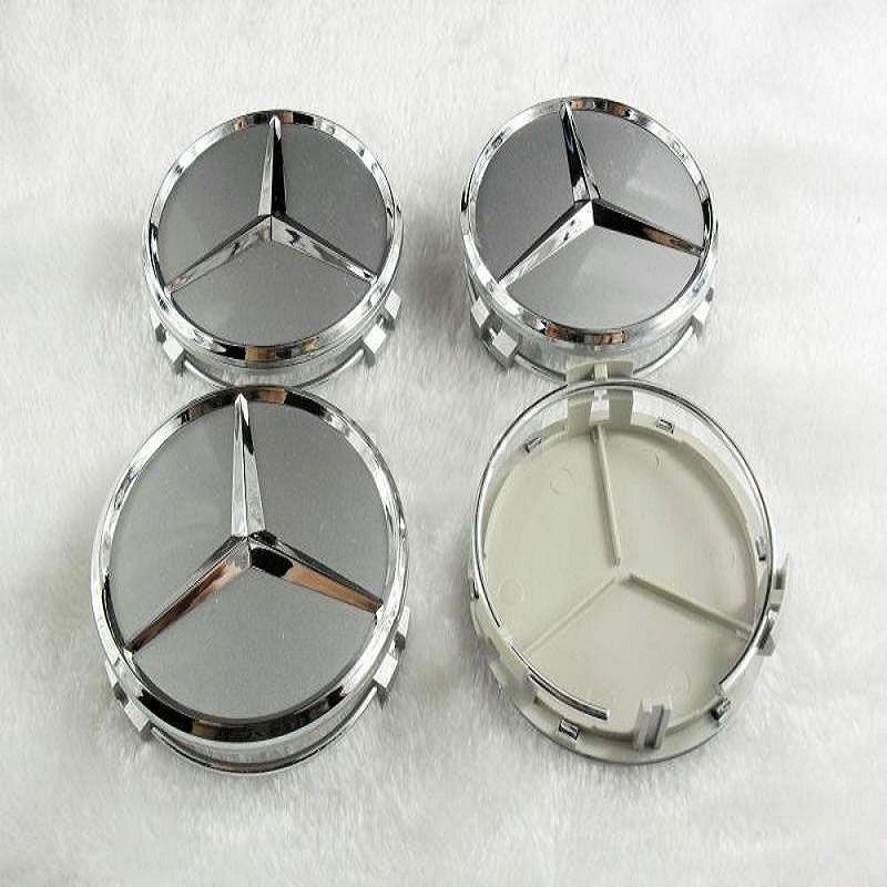 4 шт. 75 мм серебро колеса автомобиля центр крышки эмблема авто колесный накладка колпак значки для mercedes, Стайлинга автомобилей