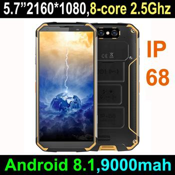2018 New 5 7 Inch Mtk6763t Octa Core Rugged Smartphone Pda With Android 8 1 Handheld Mobile Phone Fingerprint Scanner