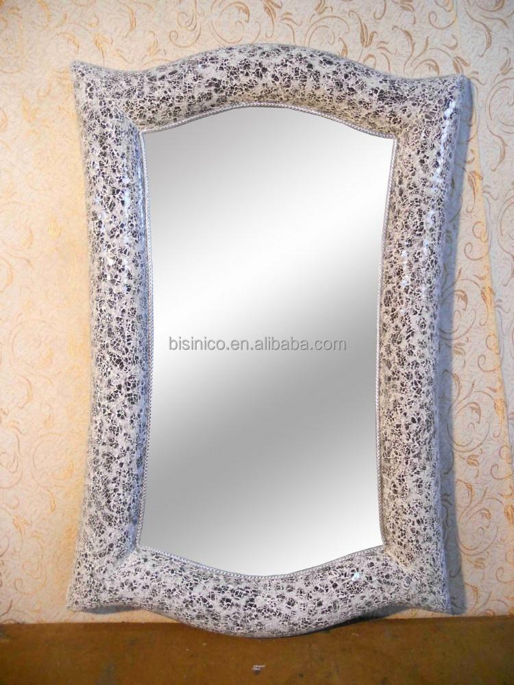 lujo de diseo moderno saln espejo decorativo hecho a mano mosaico de vidrio espejo marco