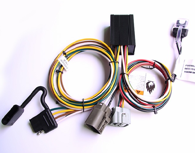 4 way trailer flat plugs + fuse holder wiring harness for towing car