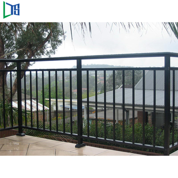 polished outdoor stair handrail lightweight aluminum railings for