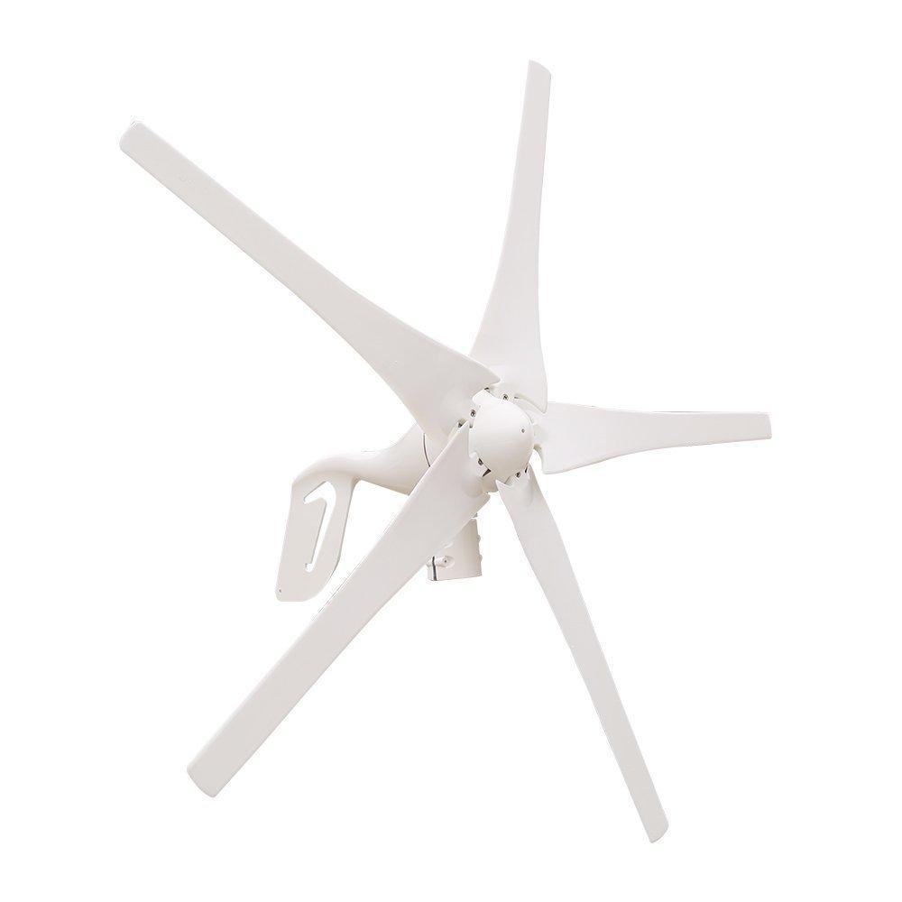 HUKOER 400W Windmill /Wind Turbine Generator & Waterproof Wind Controller 12V/24V 5 Blades Low Wind Speed Starting Top Rated NSK Bearings Garden Street Lights Wind Turbines (24V)