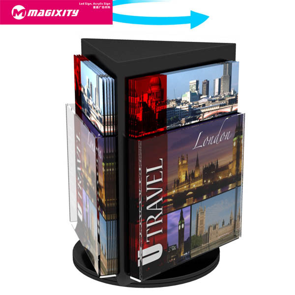 2015 newest design flyer display stand for advertising pragmatic acrylic display cases wholesale