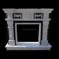 Marble decoration wall fireplace