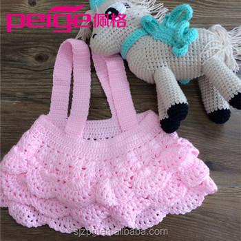 Großhandel Von Häkeln Baby Outfit Handgestrickte Baby Mädchen Kleid ...