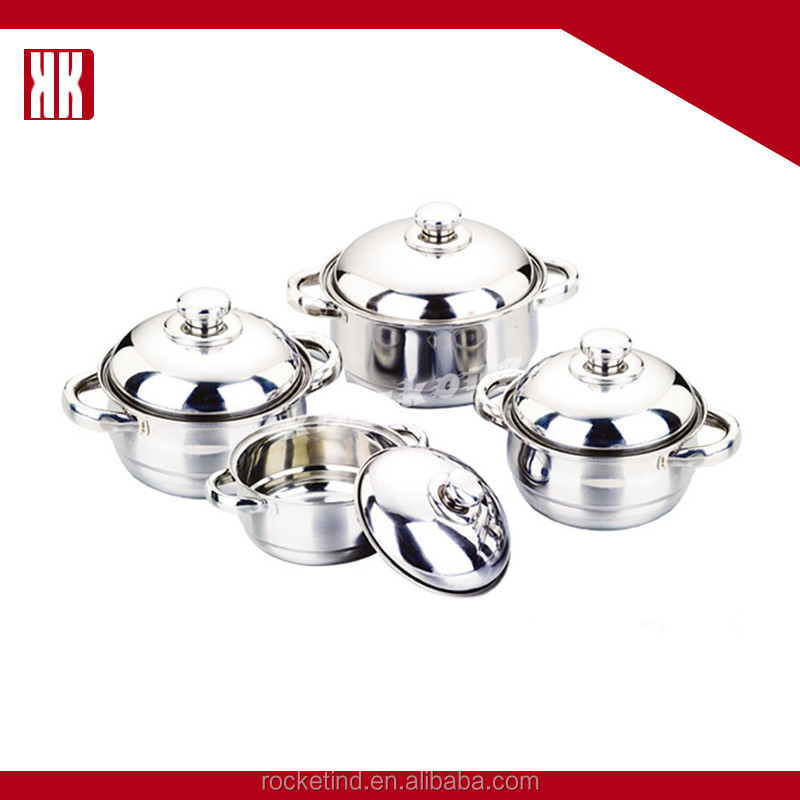 OEM Service Cooking Pot And Pan Stainless Steel Metal Cookware Set