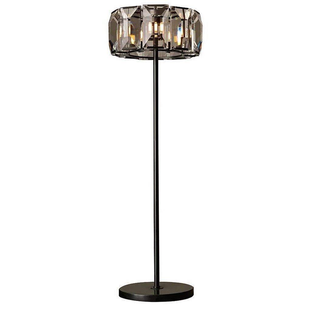 Edge To Floor lamp Nordic American Style Rural Retro Iron Floor Lamp Living Room Bedroom Crystal Floor Lamp