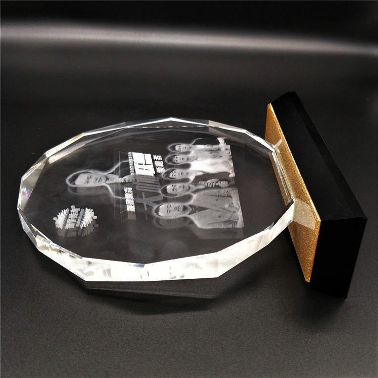 High Quality  Award Custom Model K9 Crystal Trophy