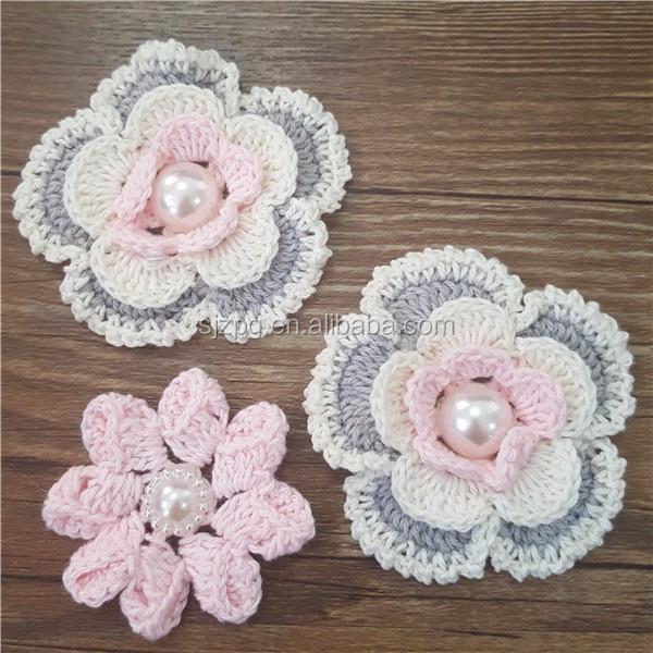 Flor Patrón De Collar Crochet Flor De Tela - Buy Flor De Tela De ...