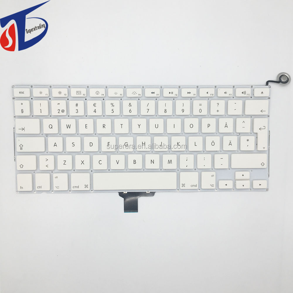 NEW brand for macbook 13.3'' inch A1342 Swedish keyboard 2009 2010year