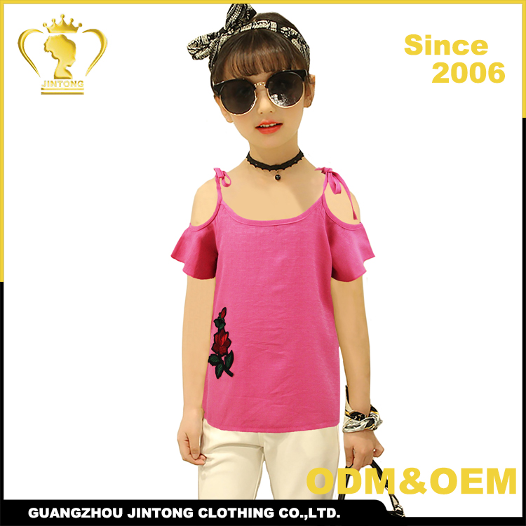 China children clothing manufacturers blouse design for children summer