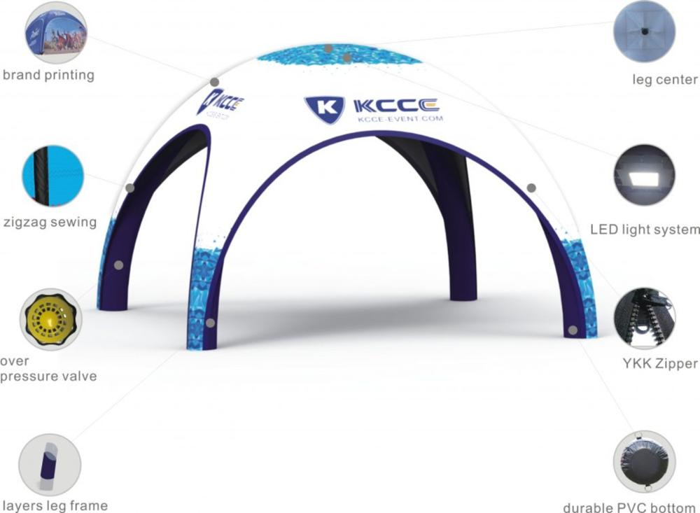 New Hot Top Quality  Customized Material inflatable Custom Print Tent//