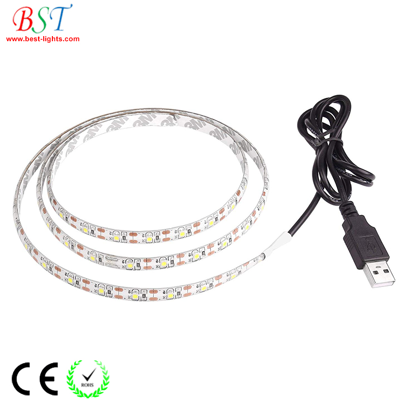 Flexible USB LED Strip Light SMD2835 5050 RGB DC3V, 3.7V, 4.5V, 5V, 6V, 9V, 12V LED tape lights for TV, Computer, Custom DIY