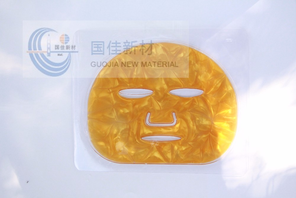 24k absorbent gold foil anti age Pure gold Collagen face mask anti-wrinkle anti age for long time nursing