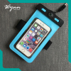 Universal fluorescent mobile phone pvc waterproof bag underwater cell phone case