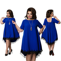 F20032A New fashion plus size women clothing fat women dresses